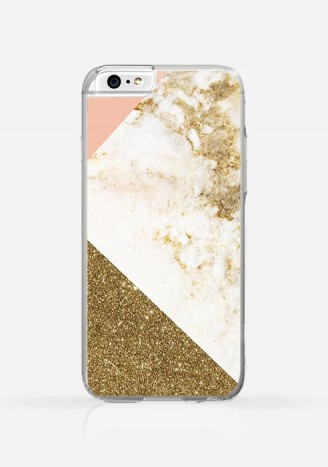 Obudowa MARBLE PINK AND GOLD