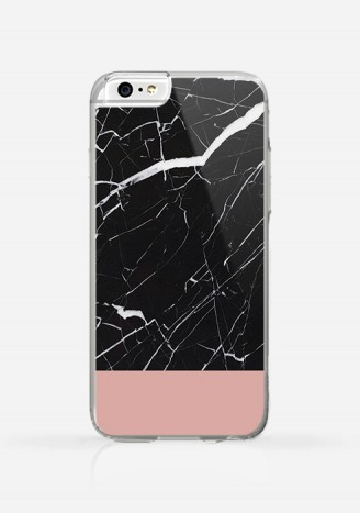 Obudowa MARBLE BLACK AND PINK