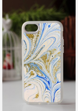 Obudowa MARBLE GOLD AND BLUE